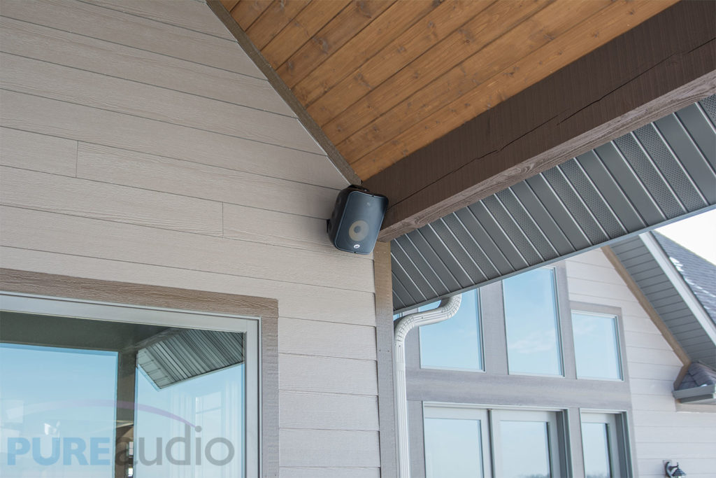 Outdoor Weather Proof Speaker can withstand Rain, Snow, Sleet, extreme Temperature and More for Whole House Audio and Surround Sound System. Installed by Pure Audio of Columbia Missouri