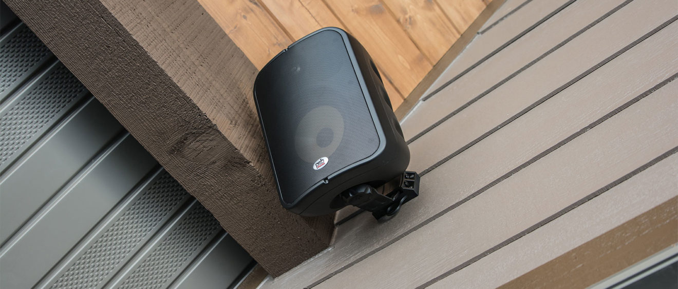 This Wall Mounted PSB Outdoor Speaker is Weatherproof for Whole Home Audio and Surround Sound Systems Outside your Home. Ex: Decks, Patios, Outdoor Kitchen and more! By Pure Audio in Columbia, Missouri