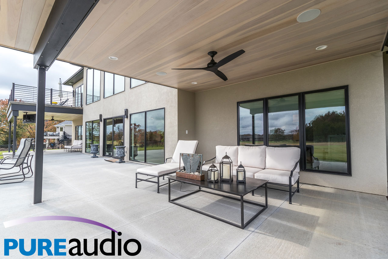 Ultra Modern Columbia Home with Livingroom and Kitchen Ceiling Speakers by Pure Audio Entire Home Sound Systems and Multi-Room Speakers 2020