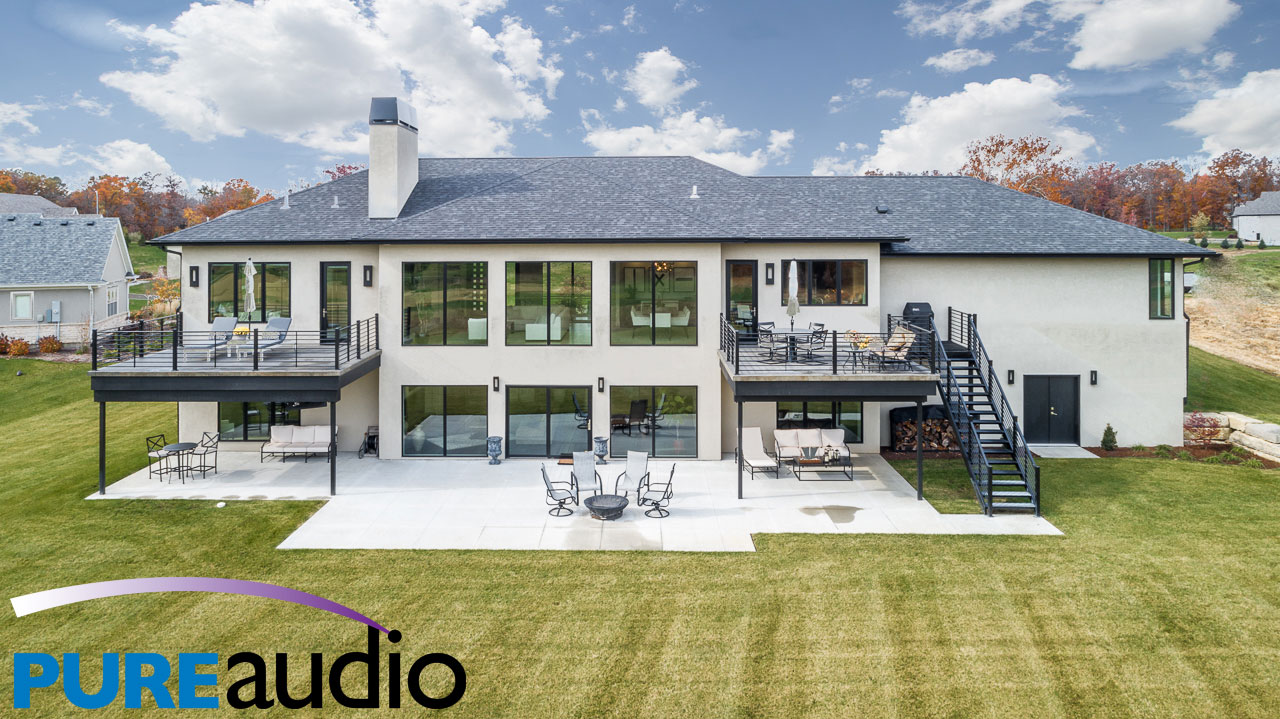 Ultra Modern Columbia Missouri Home with In-Ceiling Speakers Everywhere by Pure Audio Whole House Sound Systems and Multi-Room Speaker Setups 2020