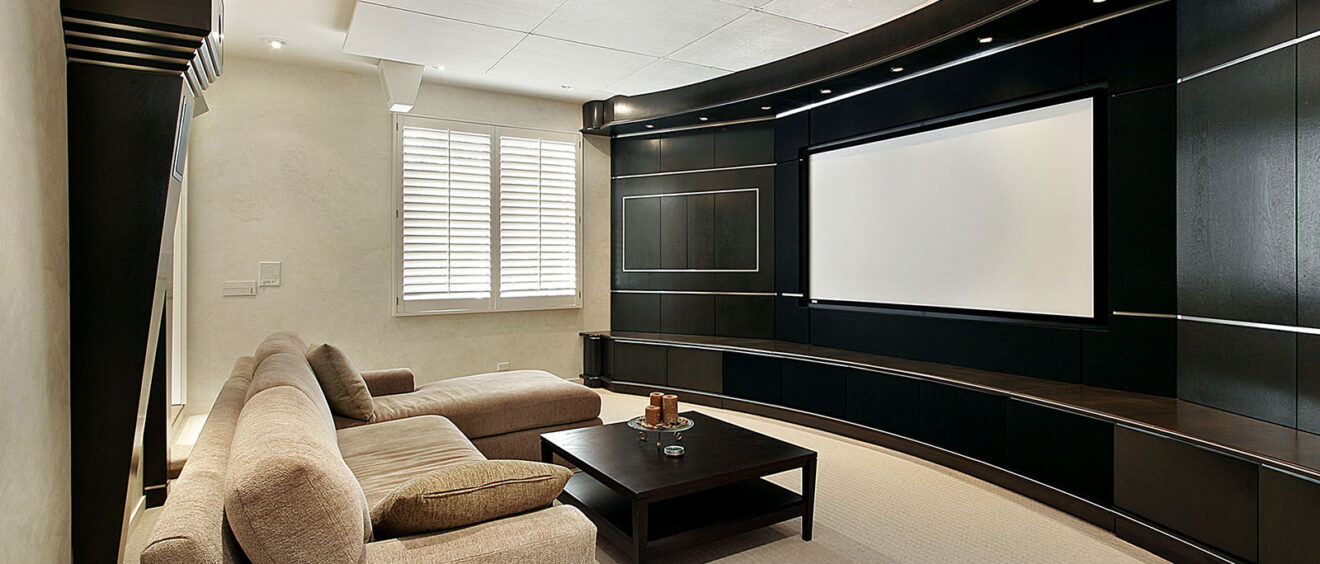 Make Your Home the Ultimate Staycation Location House Media Movie Room Projector