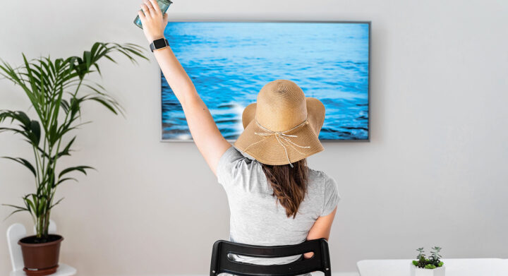 Make Your Home the Ultimate Staycation Location Wall Mounted TV Family Room